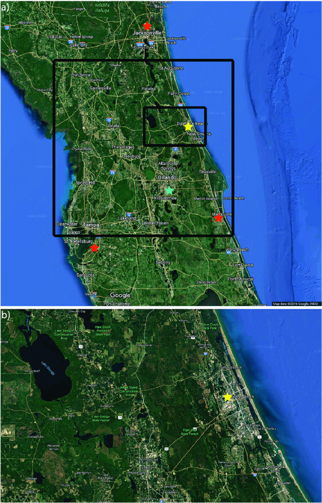 Google Terrain Maps Of Central Florida (Google Maps 2016) For (A - Google Maps St Pete Beach Florida