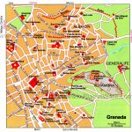 Granada Map   Tourist Attractions | Southern Spain In 2019 | Granada   Printable Street Map Of Nerja Spain