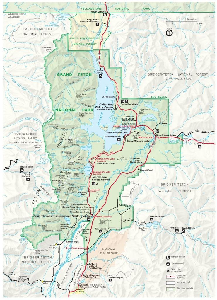 Grand Teton Maps | Npmaps - Just Free Maps, Period. - Printable Map Of Grand Teton National Park
