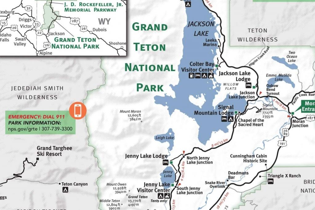 Grand Teton & Yellowstone National Park Map - Jackson Hole Traveler - Printable Map Of Grand Teton National Park