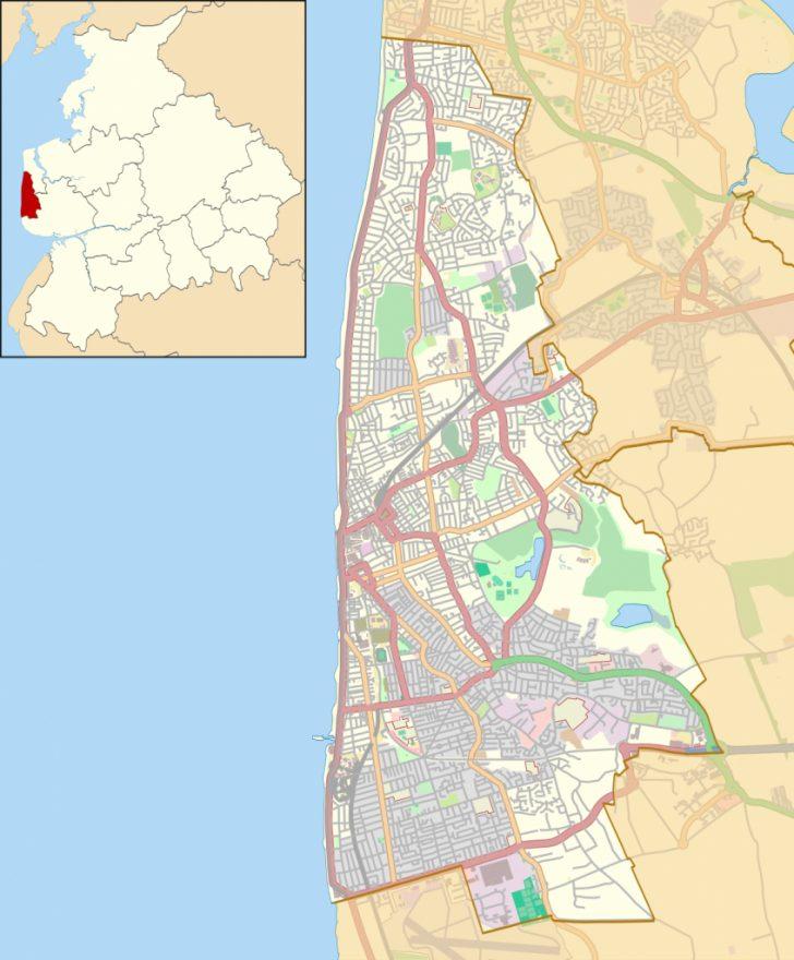 Blackpool Tourist Map Printable