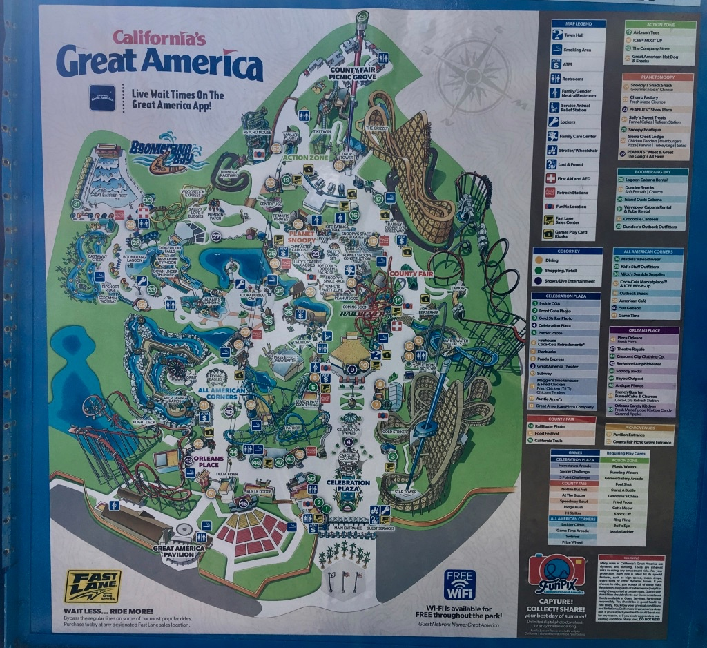 Great America California Map - Klipy - California's Great America - California's Great America Map 2018
