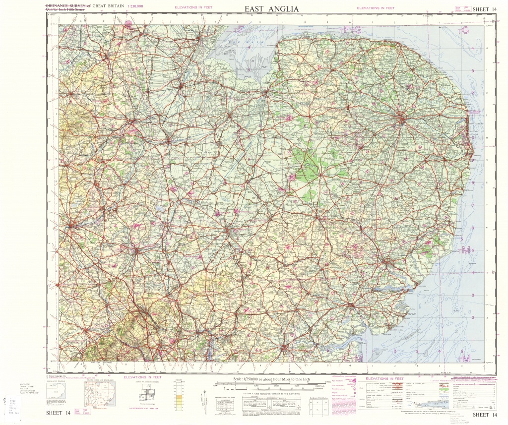 Great Britain Ams Topographic Maps - Perry-Castaã±Eda Map Collection - Printable Map Of East Anglia