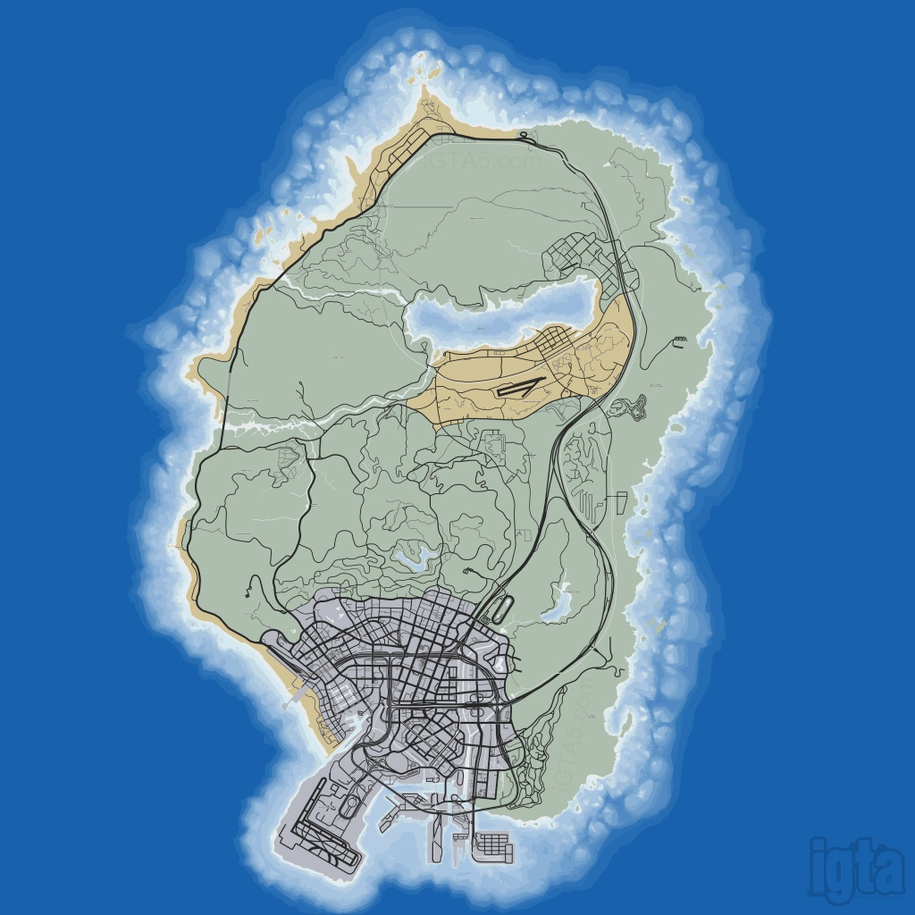 Gta 5 Map - Gta 5 Printable Map