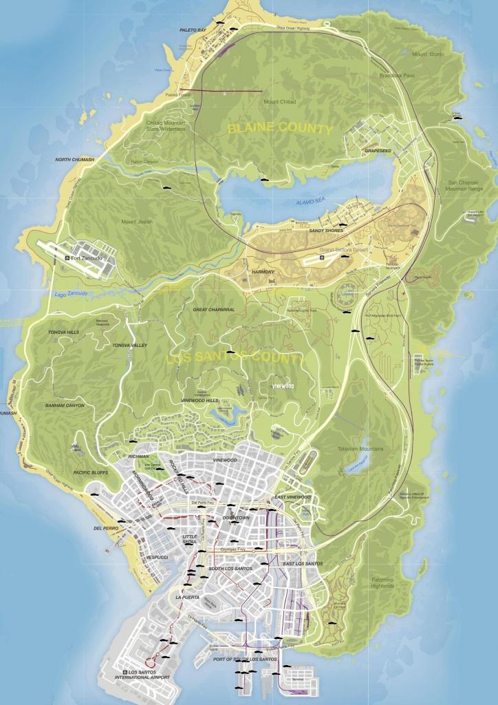 Gta V Stunt Jumps Maps And Locations Guide - Gamingreality - Gta 5 Printable Map