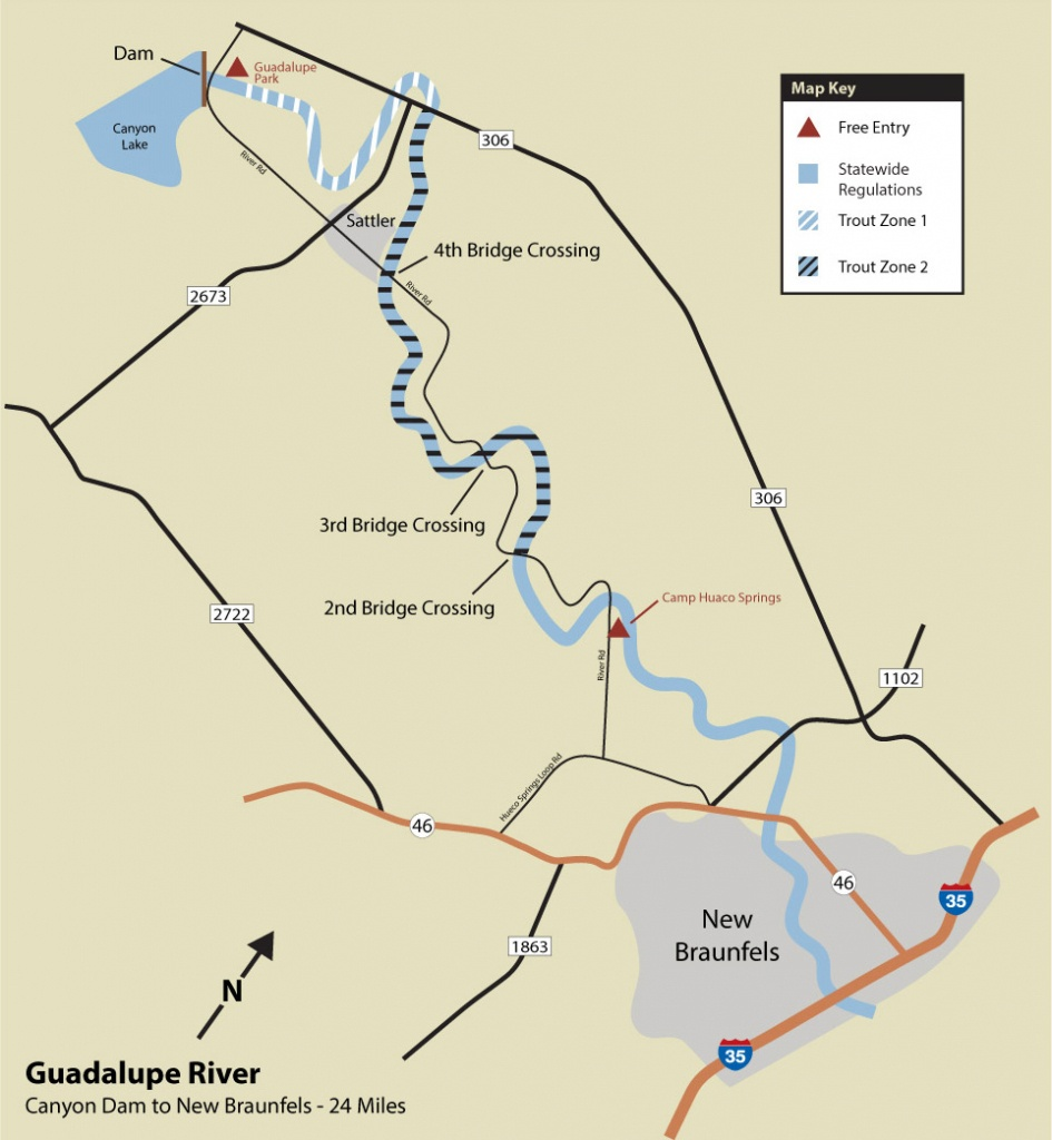 Guadalupe River Trout Fishing - Texas Fishing Maps Free