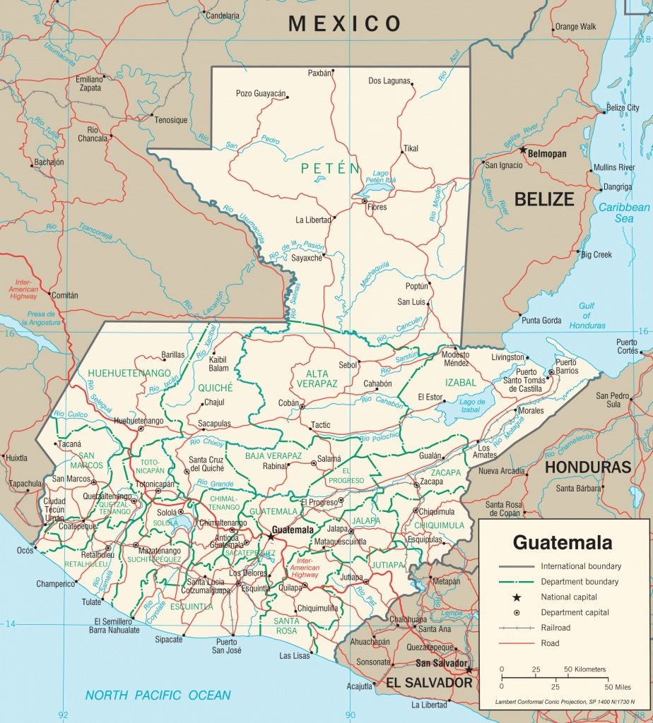 Guatemala Maps   Maps Of Guatemala - Printable Map Of Guatemala