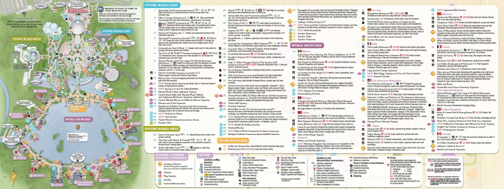 Guide-Map Now Available For The 2015 Epcot International Flower And - Printable Map Of Epcot 2015