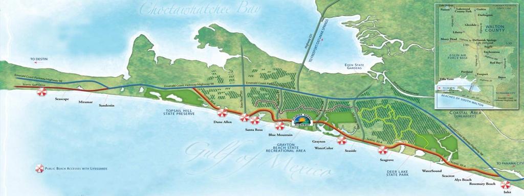 Guide To South Walton Florida Beaches | 30A Beaches Map - Sea Crest Florida Map