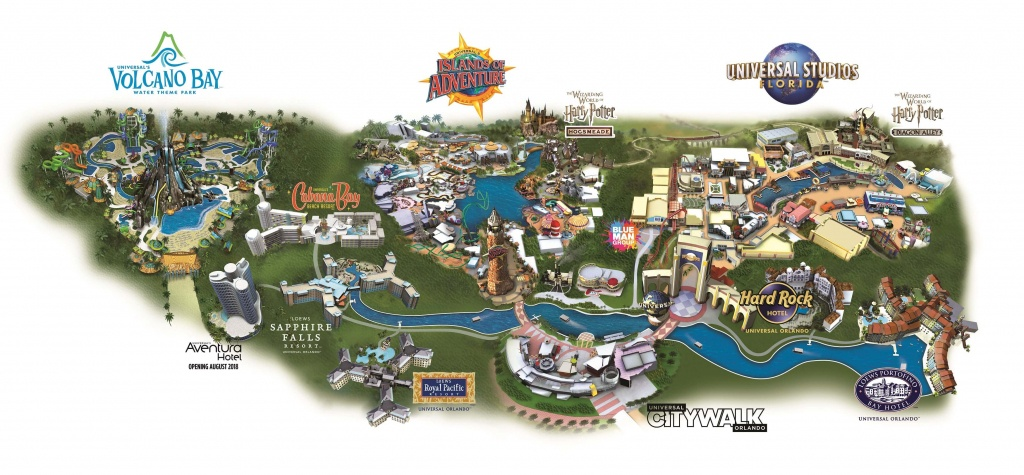 Guide To The Theme Parks At Universal Orlando Resort - Map Of Universal Studios Florida Hotels