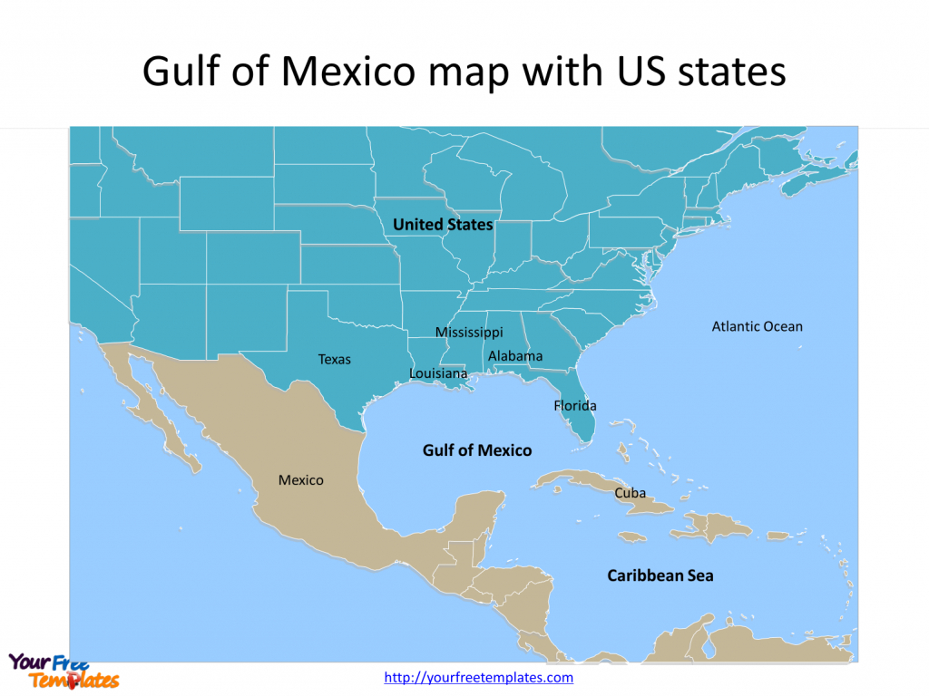 Gulf Of Mexico Map Powerpoint Templates - Free Powerpoint Templates - Map Of Southern Florida Gulf Side