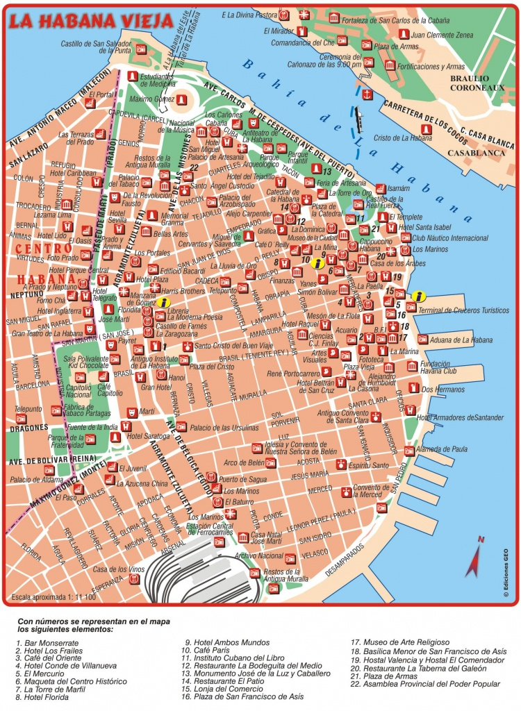 Habana Vieja Old Havana Cuba Traveler Information - Havana City Map Printable
