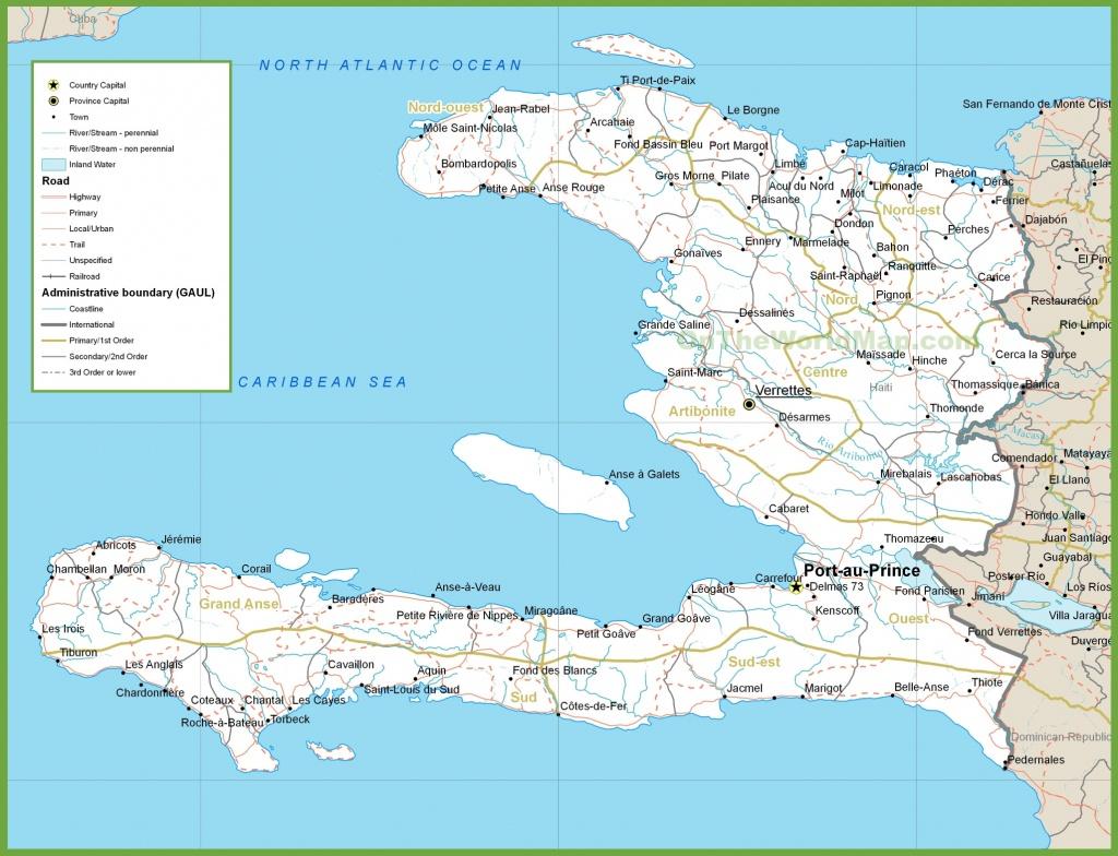 Haiti Road Map - Printable Map Of Haiti