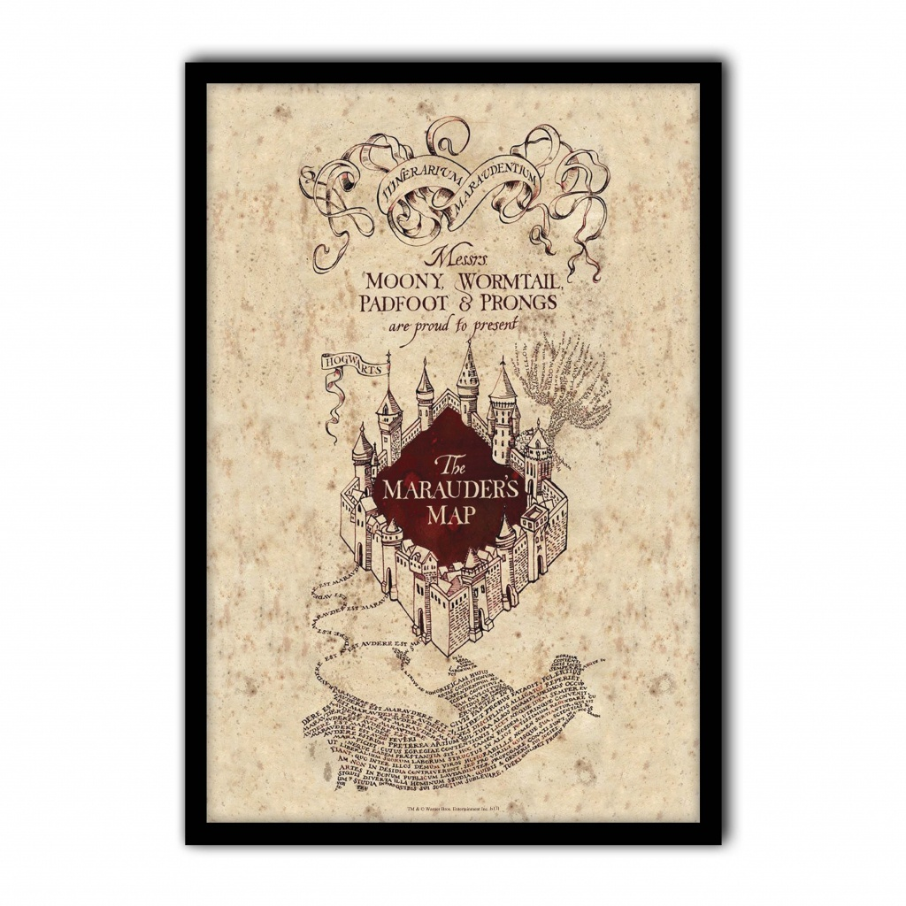 Harry Potter - The Marauder's Map - Poster Print Art, Licensed - Harry Potter Marauders Map Printable