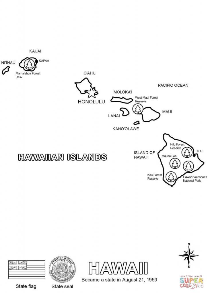 Hawaii Map Coloring Page | Free Printable Coloring Pages - Printable Map Of Hawaii