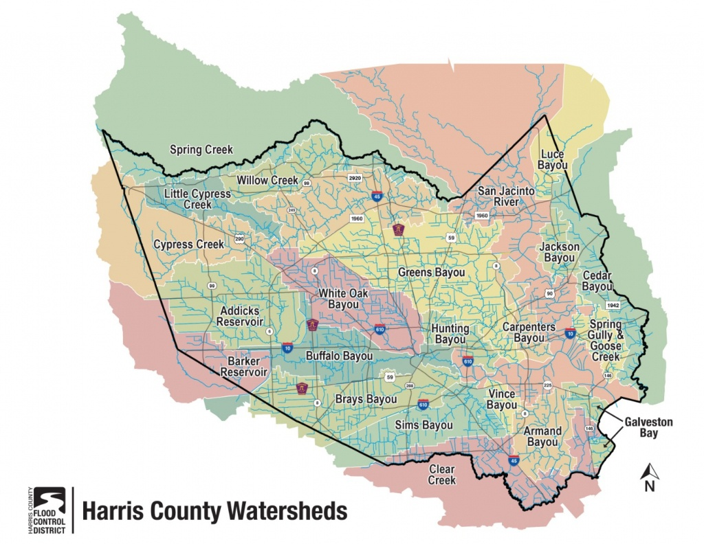 Hcfcd - Harris County's Watersheds - Harris County Texas Flood Map