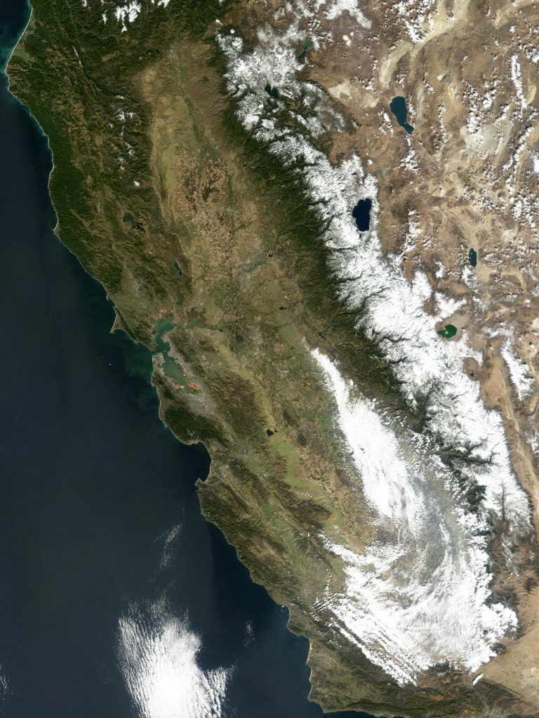 Heavy Snowfall In California Sierras - California Snow Map