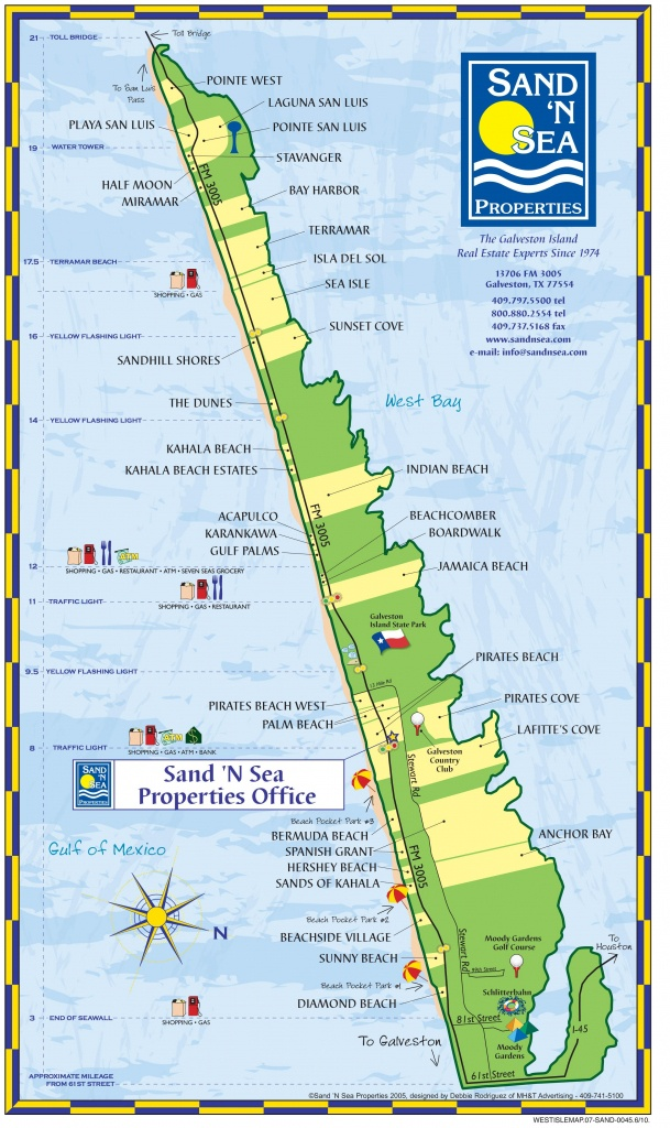 Helpful Map Of The West End - Plus Pocket Parks And Landmarks - Map Of Hotels In Galveston Texas