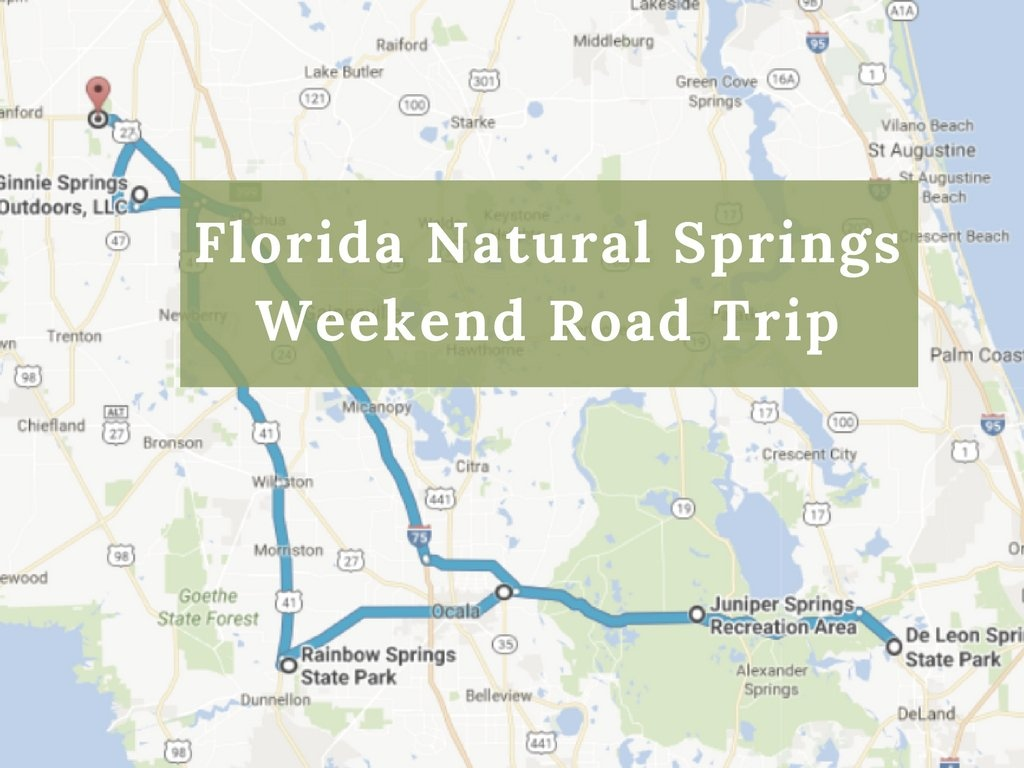 Here's The Perfect Weekend Itinerary If You Love Exploring Florida's - Natural Springs Florida Map