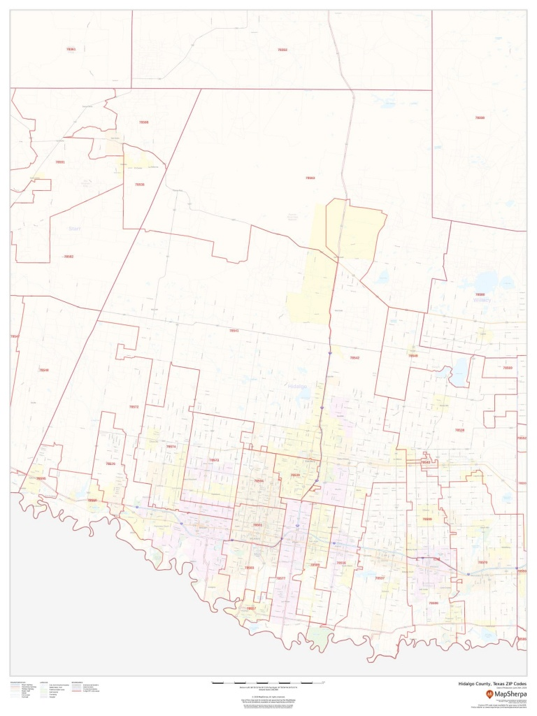 Hidalgo County Tx Zip Codes Map - Hidalgo County Texas Map