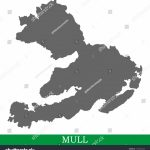 High Quality Map Mull Island United Stock Vector (Royalty Free   Printable Map Of Mull