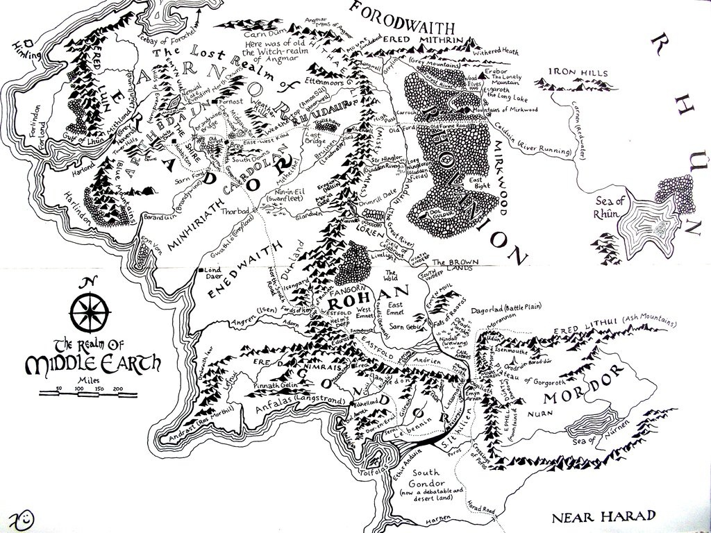 High Resolution Map Of Middle-Earth? : Lotr - Printable Hobbit Map