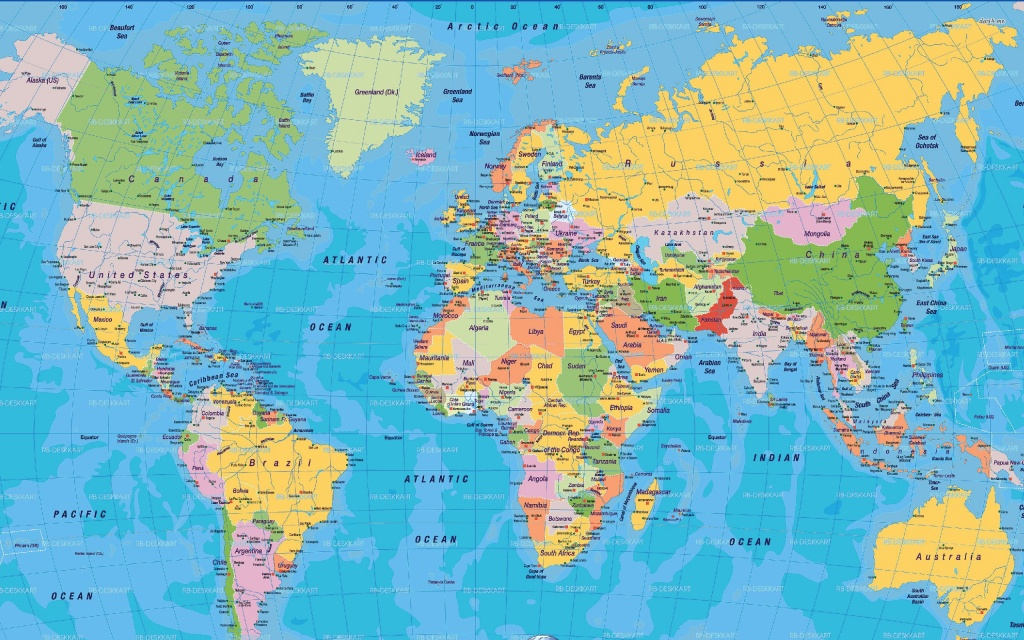 graphic relating to World Map Free Printable named Printable Map Of The World-wide - Implrs - Cost-free Printable Globe