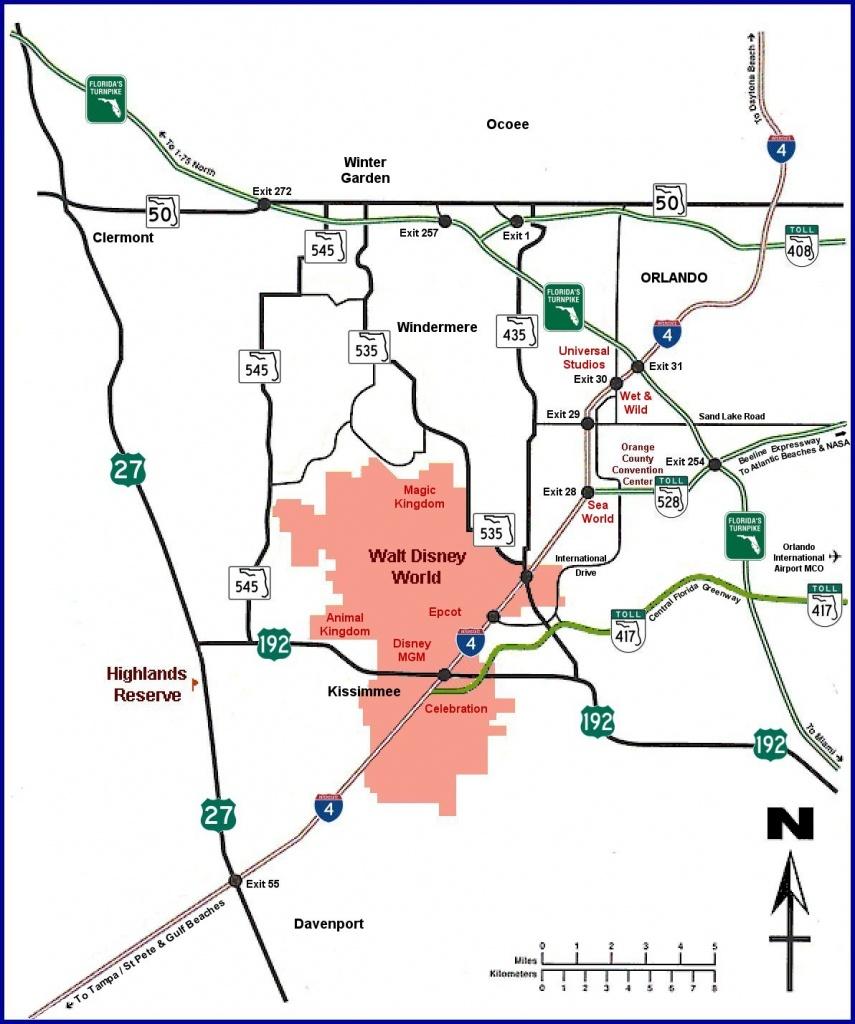 Highlands Reserve Luxury Villa Rentals In Davenport, Florida - Davenport Florida Map