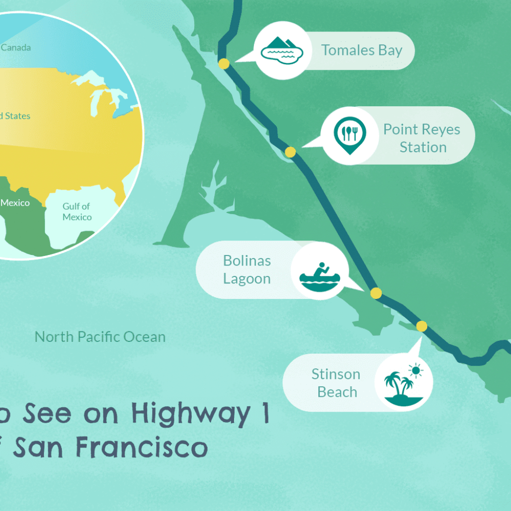 Highway 1 In Northern California - A Drive You'll Love - Map Of California Coast North Of San Francisco