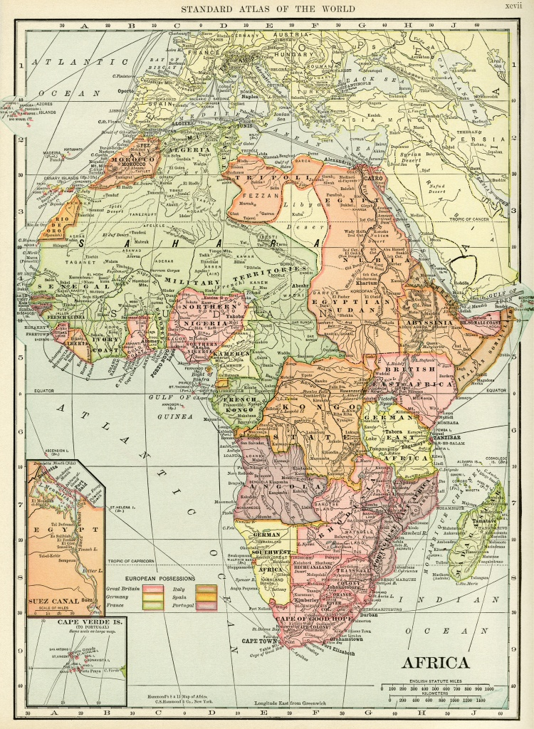 Historical Geography Map Of Africa ~ Free Digital Image - Old Design - Printable Antique Maps Free