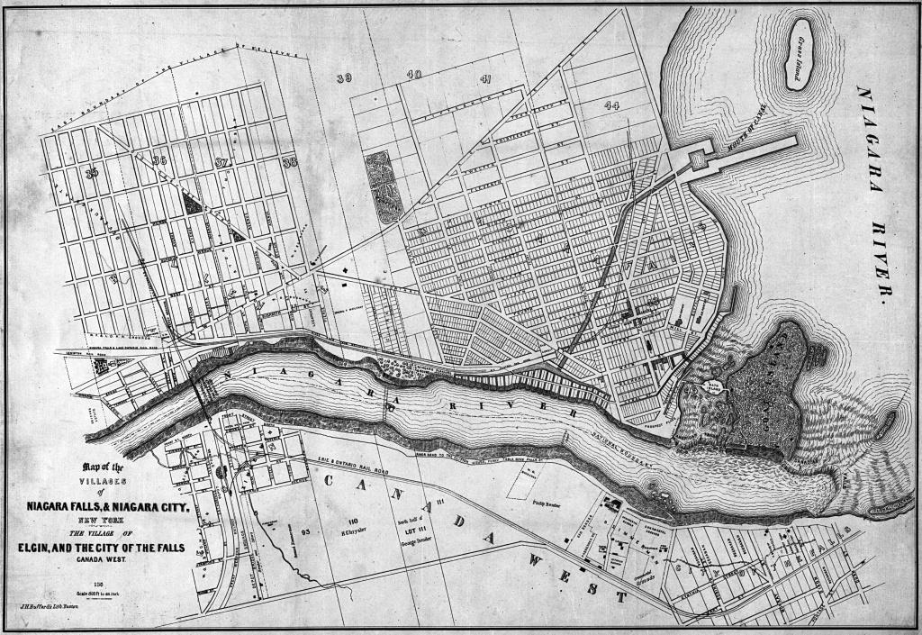 Historical Maps Of Niagara - Printable Map Of Niagara On The Lake