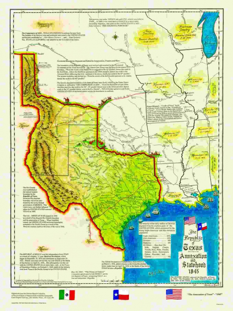 Historical Texas Maps, Texana Series - Republic Of Texas Map 1845