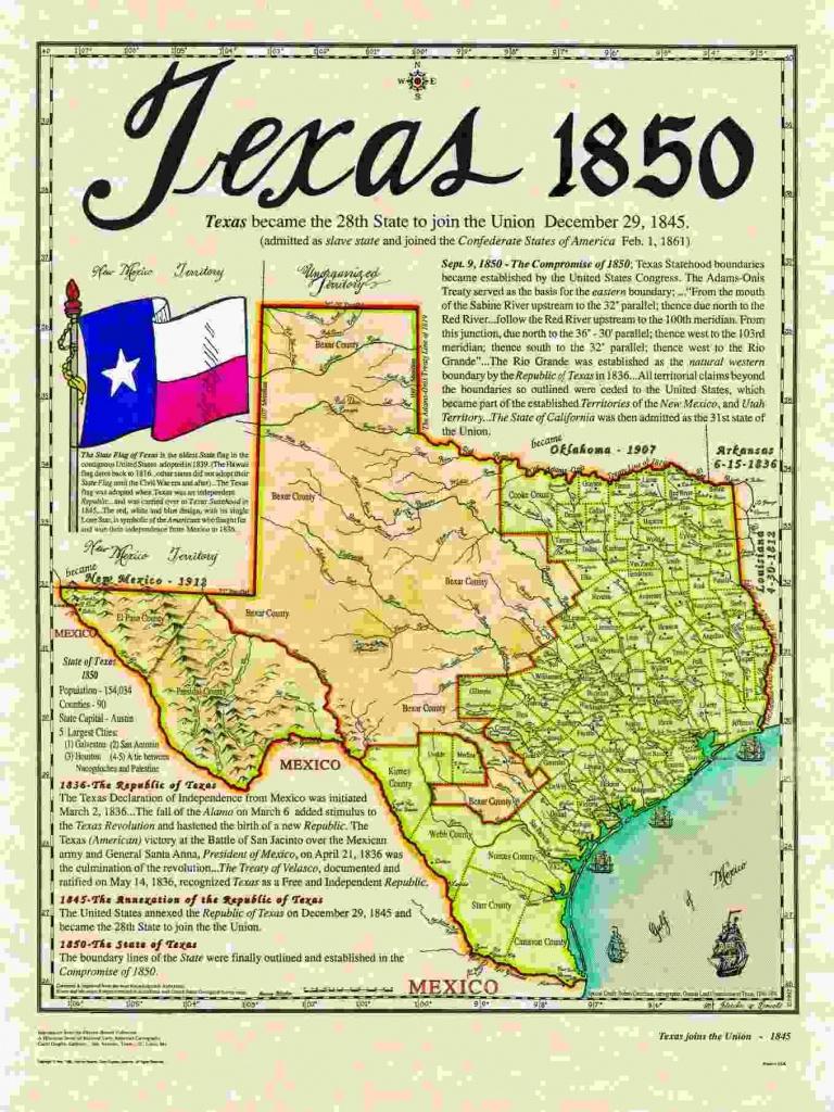 Historical Texas Maps, Texana Series   Texas History   Texas, Texas - Texas Map 1850