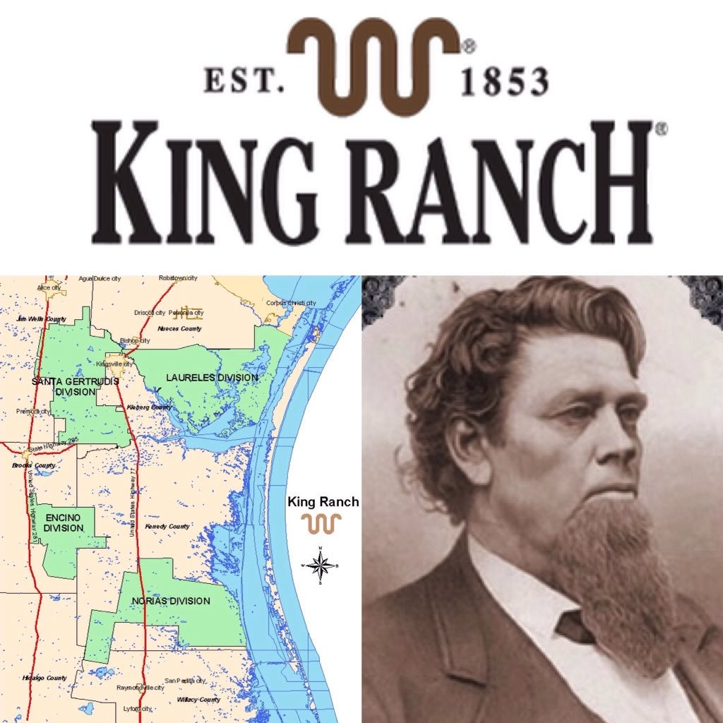 "Historictexasranches On Twitter: ""largest Ranch In Texas (Over 825K - King Ranch Texas Map"