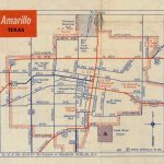 History Of Amarillo, Texas: Map Of Amarillo: C. 1956   1960   Where Is Amarillo On The Texas Map