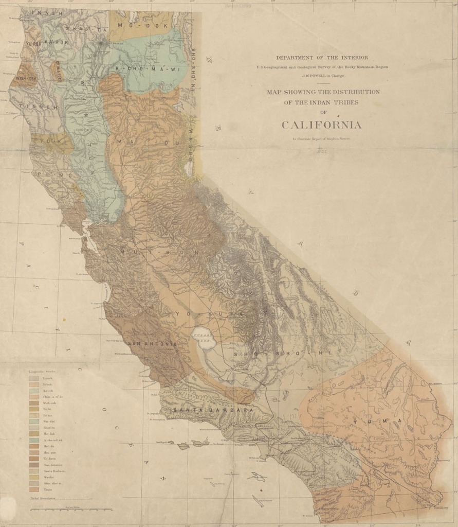 Home - Indigenous Peoples Of California: Related Resources At The - Southern California Native American Tribes Map