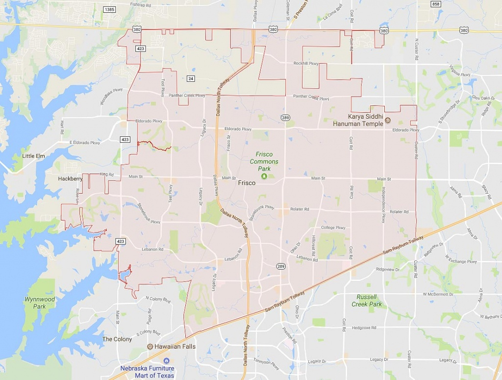 Homes For Sale In Frisco Tx - Neighborhood & Real Estate Guide - Map Of Texas Showing Frisco