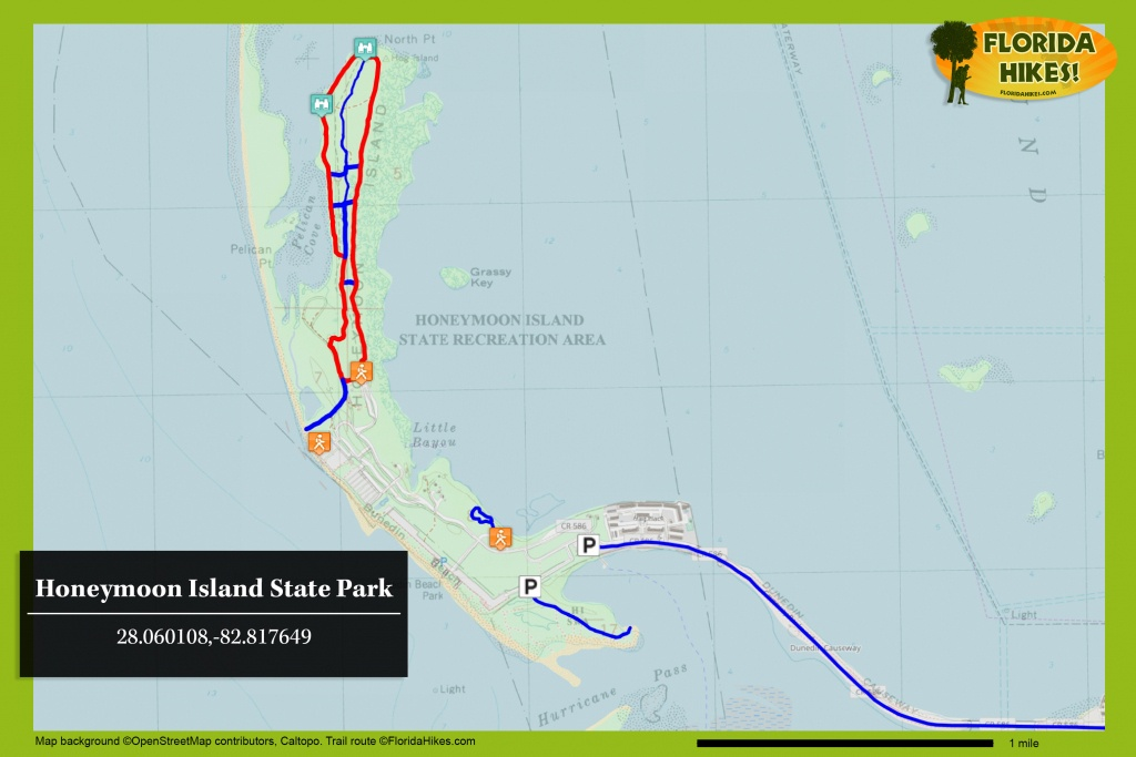Honeymoon Island State Park | Florida Hikes! - Honeymoon Island Florida Map