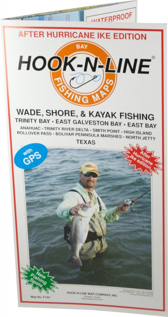 Hook-N-Line Map F104 Wade Fishing East Galveston Bay (With Gps - Texas Wade Fishing Maps