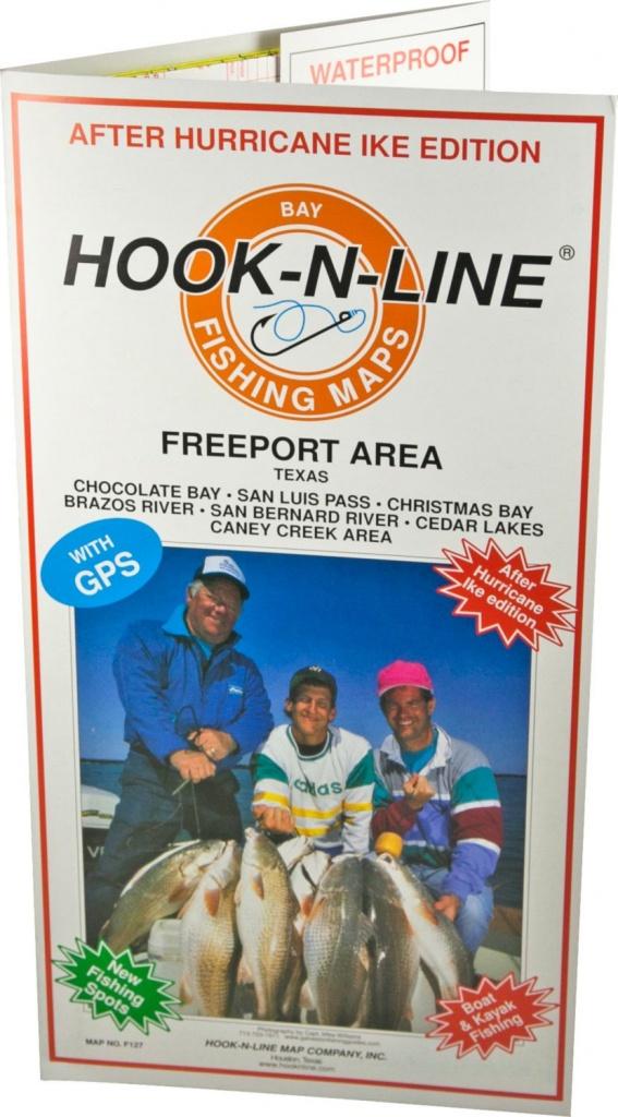 Hook-N-Line Map F127 Freeport Area Fishing Map (With Gps) - Austinkayak - Texas Kayak Fishing Maps