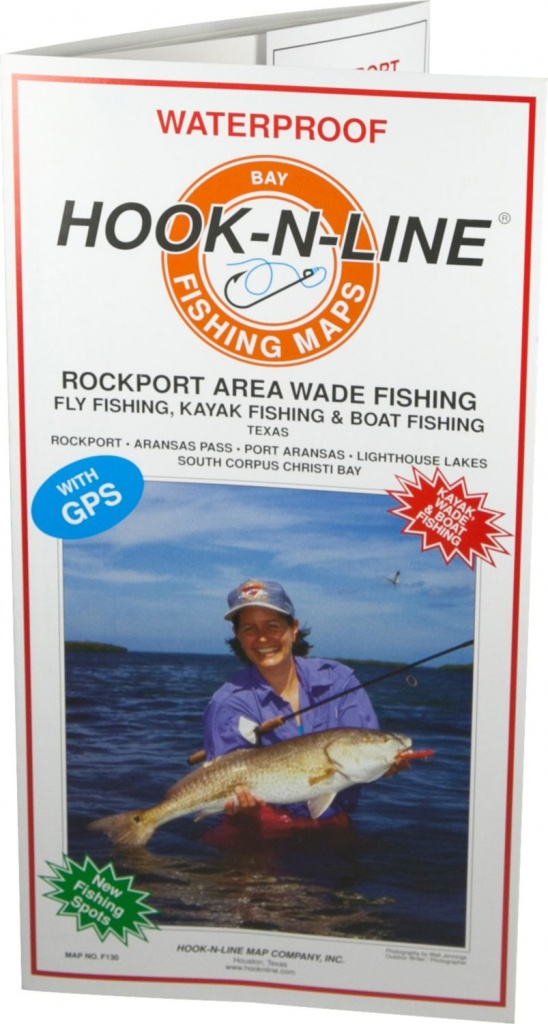 Hook-N-Line Map F130 Rockport Wade Fishing Map (With Gps) - Austinkayak - Texas Wade Fishing Maps