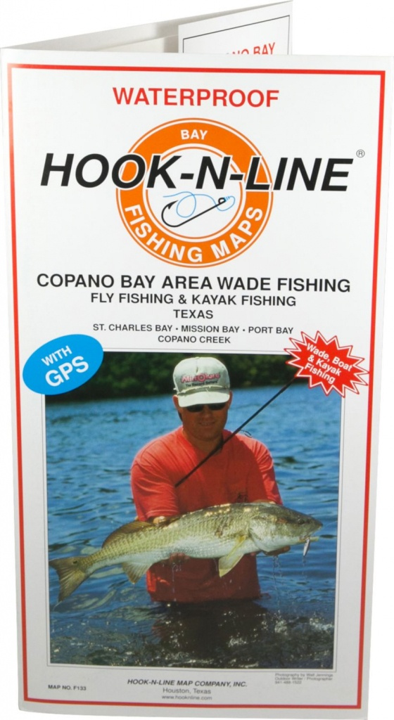 Hook-N-Line Map F133 Copano Bay Wade Fishing Map (With Gps - Rockport Texas Fishing Map