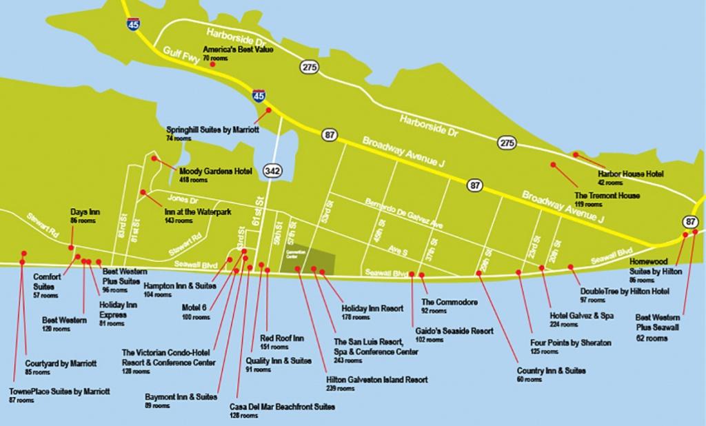 Hotel Map - Map Of Galveston Texas