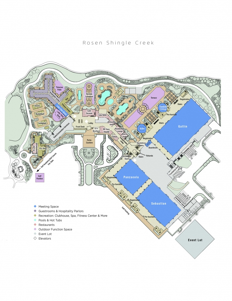 Hotel Map | Rosen Shingle Creek® - Florida Map Hotels