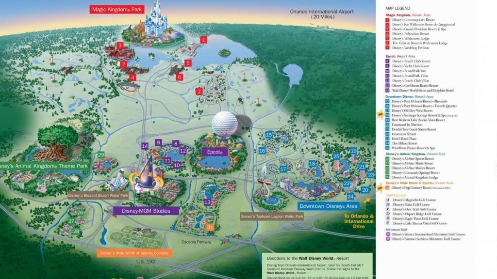 Hotel Resort Disney World Resorts Florida Residents In Walt Monorail - Disney Resorts Florida Map