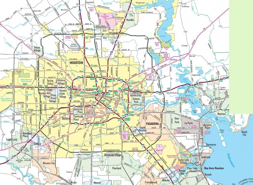 Houston Area Road Map - Map To Houston Texas