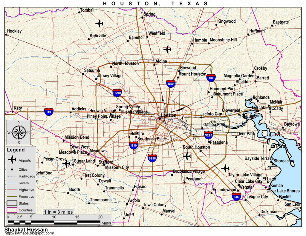 Houston-Houston-Texas-Map - Map To Houston Texas