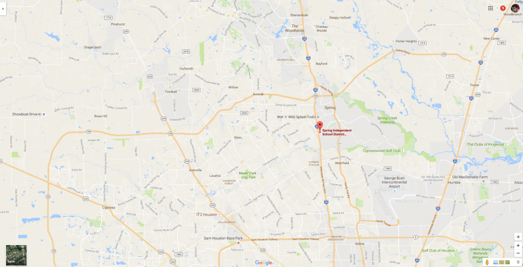 Houston Isd Arrests 14-Year-Old Student In Creepy Clown Attack Hoax - Google Maps Spring Texas