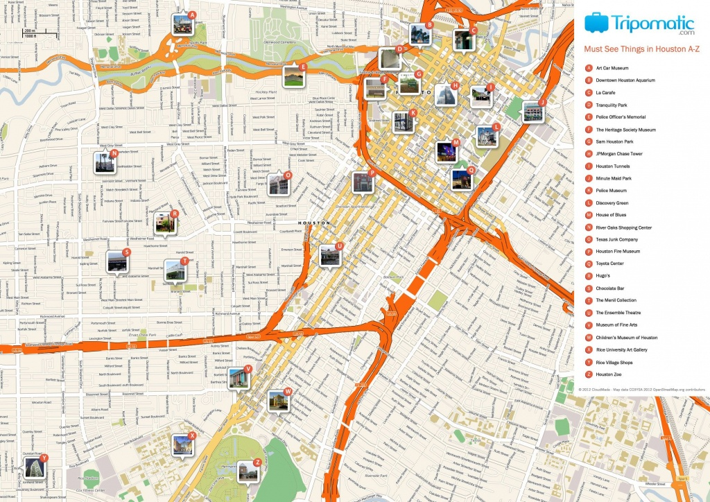 Houston Printable Tourist Map | Homeschooling & Unschooling - Downtown Houston Map Printable
