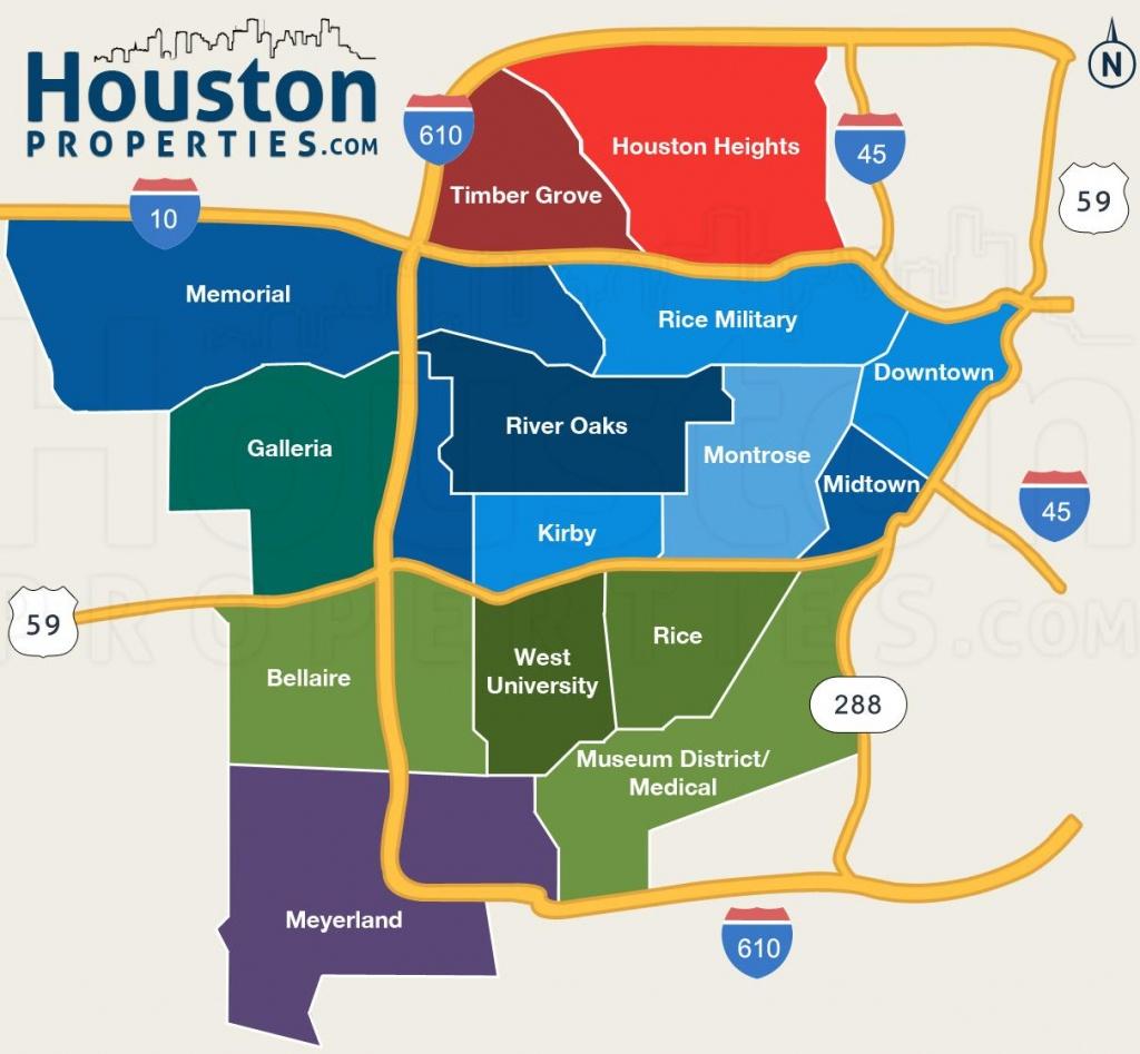 Houston Tx Map - Houston Texas On Map (Texas - Usa) - Houston Texas Map